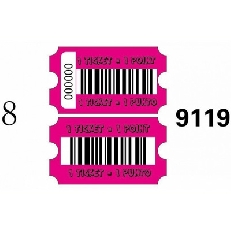 Ticket per redemption neutro fucsia cornice 46
